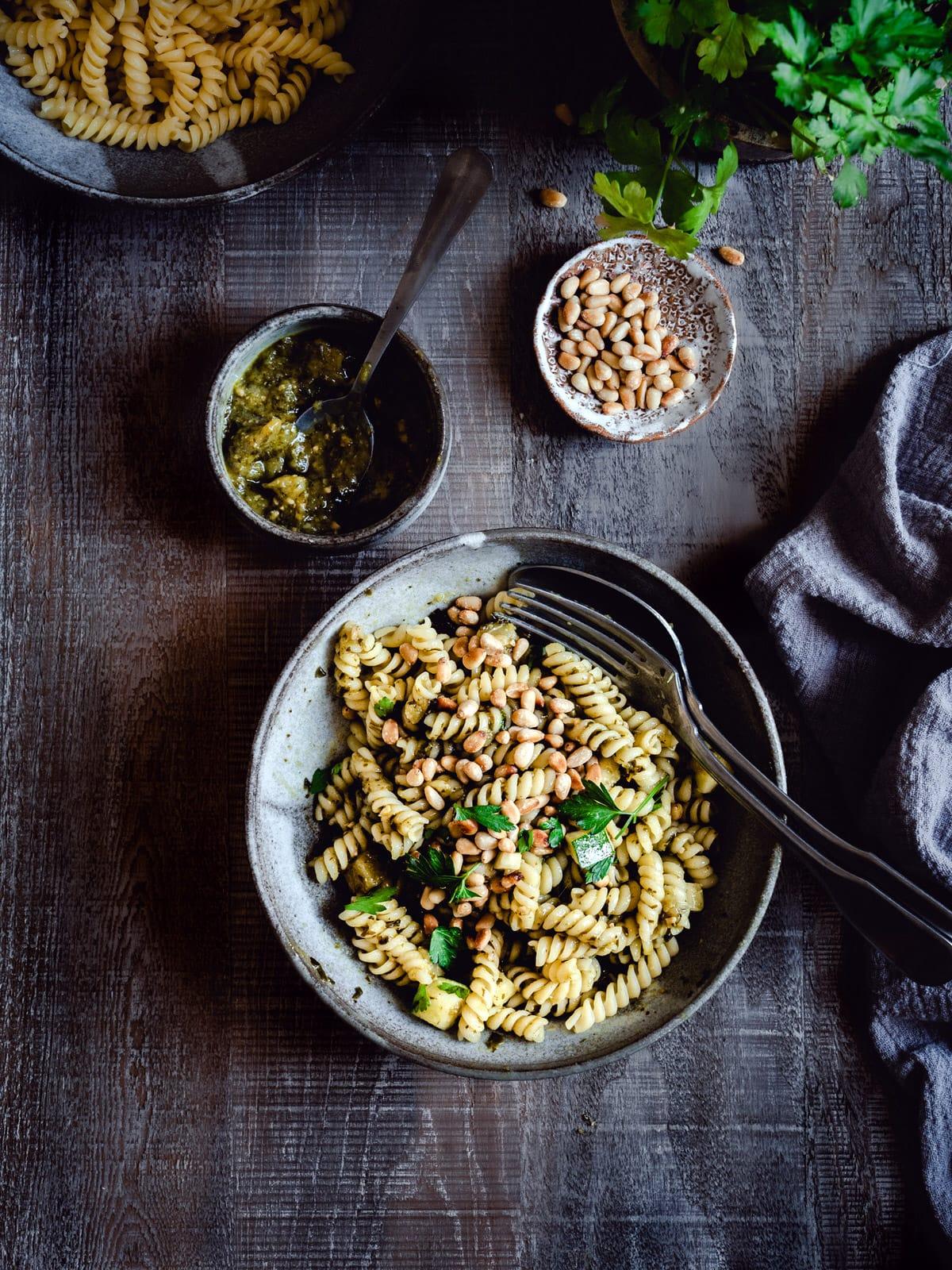 Veganes Pesto aus Zucchini